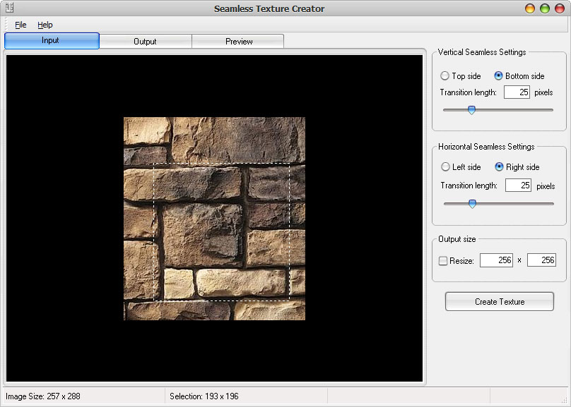Click to view Seamless Texture Creator 3.0 screenshot